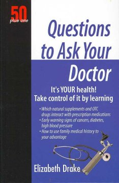 50 plus one questions to ask your doctor cover