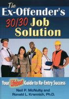 The ex-offender's 30/30 job solution cover