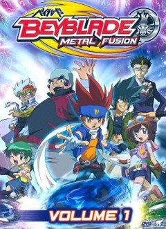 Beyblade metal fusion.  Volume 1 cover
