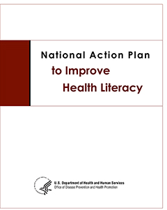 National action plan to improve health literacy. cover