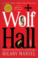 Wolf Hall a novel - Cover Image