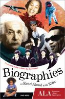 biographies to read aloud with kids :from alvin ailey to zishe the strongman