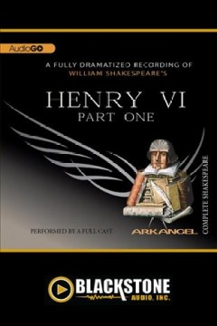 William Shakespeare's King Henry VI.  Part one cover