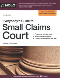Everybody's Guide to Small Claims Court - Cover Image