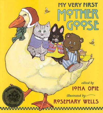 Book cover: My Very First Mother Goose, by Iona Opie