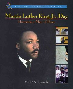 Martin Luther King, Jr. Day : honoring a man of peace cover