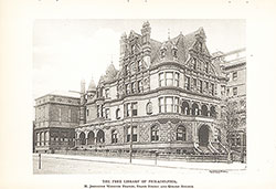 P.A.B. Widener mansion at Broad and Girard following conversion by Horace Trumbauer from home to library in 1899