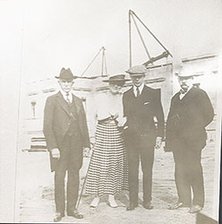 Mr. Stotesbury, Mrs. Stotesbury, Oliver Stotesbury, and Horace Trumbauer