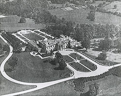 Aerial view of Whitemarsh Hall, residence for E.T. Stotesbury, Springfield, PA, 1919