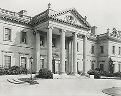 Facade of Whitemarsh Hall, residence for E.T. Stotesbury, Springfield, PA, 1919