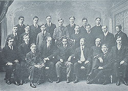 Architectural Society at the University of Pennsylvania with its president Julian Abele seated in center, 1902
