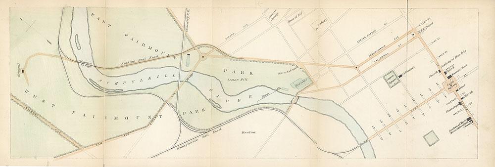 Plan for an access boulevard from Broad Street to Fairmount Park