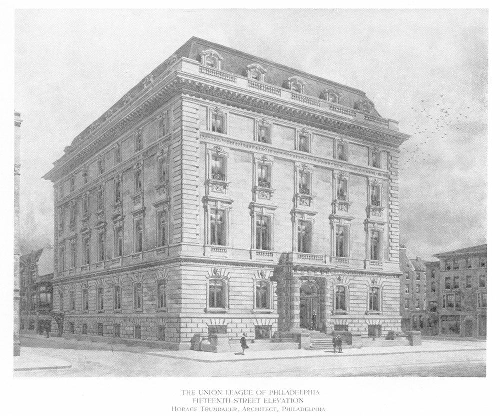 Union League of Philadelphia, Fifteenth Street elevation