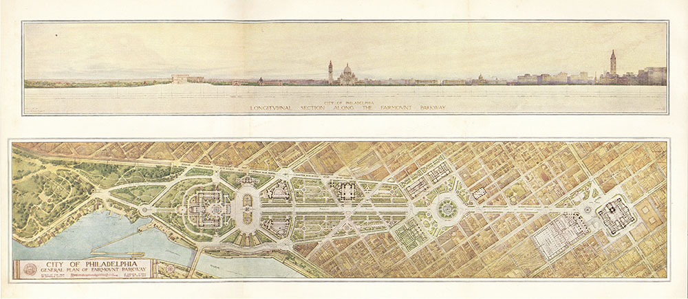 City of Philadelphia: general plan of Fairmount Parkway