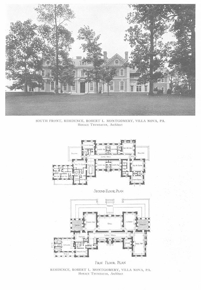 South Front, Residence, Robert L. Montgomery, Villa Nova, PA