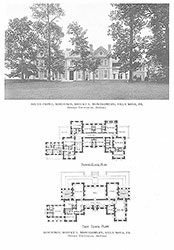 South Front, Androssan, Residence, Robert L. Montgomery, Villa Nova, PA, 1911-1913