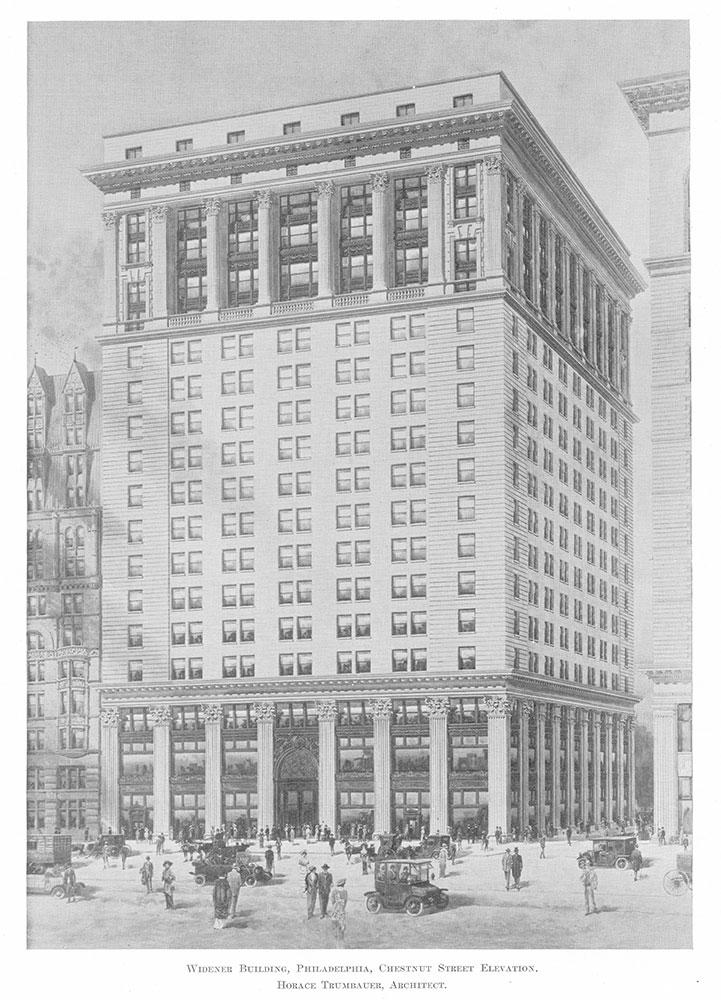 Widener Building, Philadelphia, Chestnut Street elevation