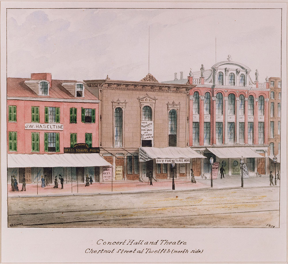 Concert hall and theatre, Chestnut Street and Twelfth (north side)