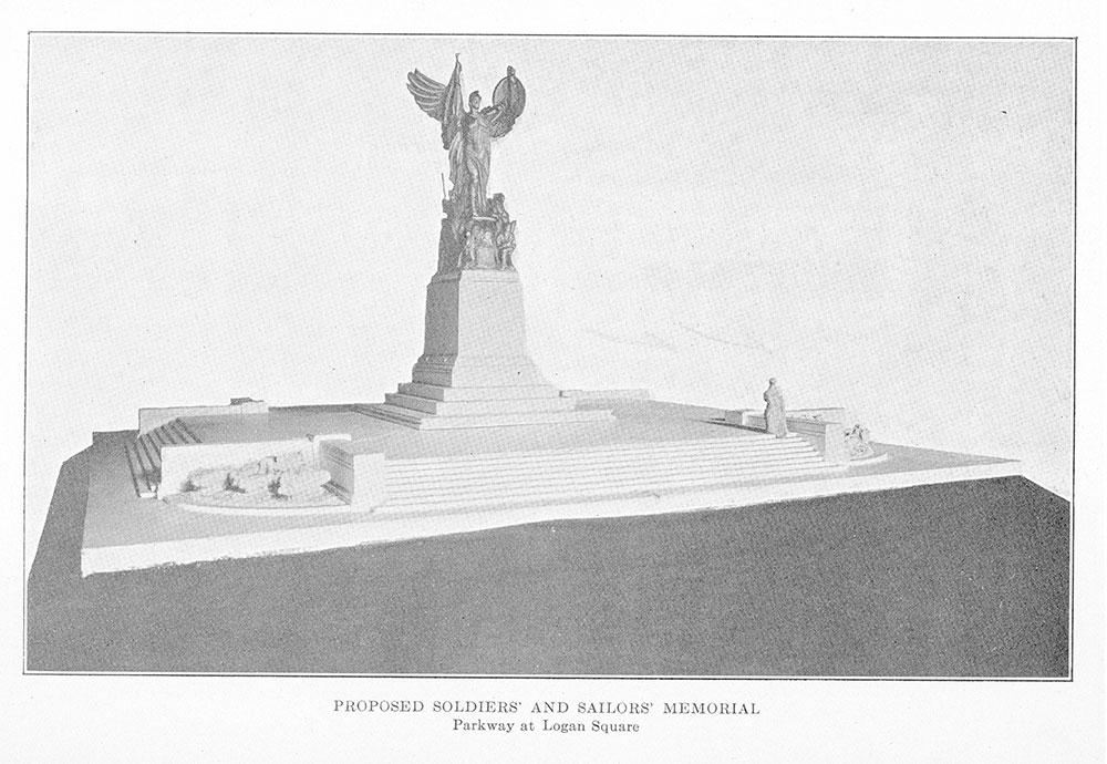 Proposed soldiers' and sailors' memorial, Logan Square in Philadelphia