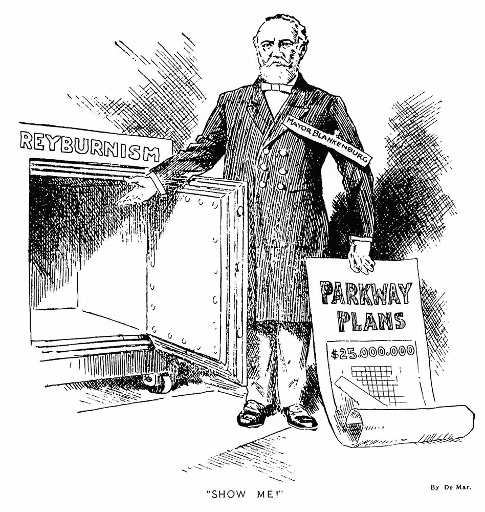 Show me!: cartoon from Philadelphia record, Feb. 21, 1912