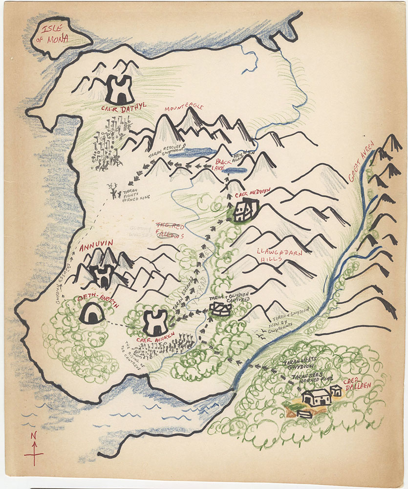 Later version of map of Prydain
