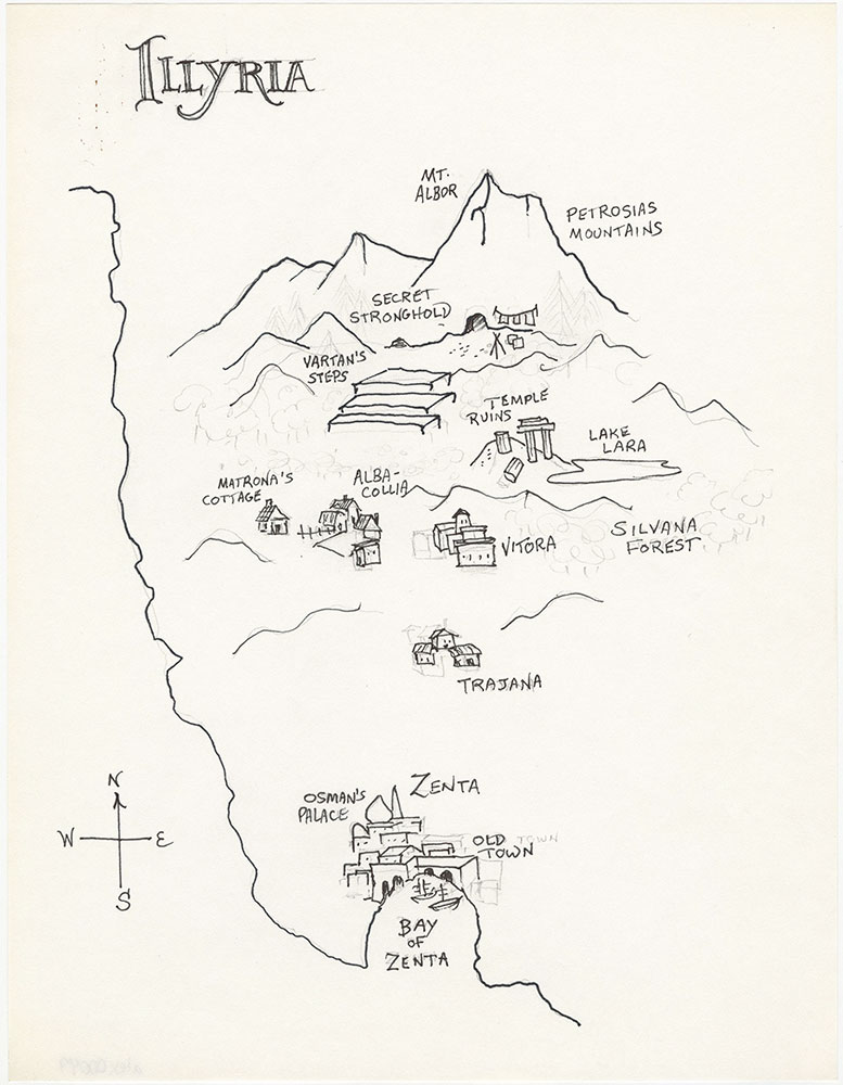 Latest version of map of Illyria, for The Illyrian Adventure