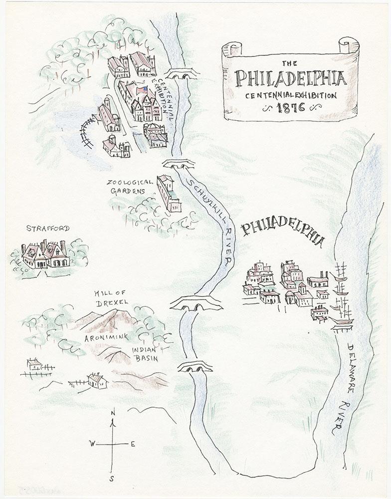 Color map of Philadelphia, for The Philadelphia Adventure