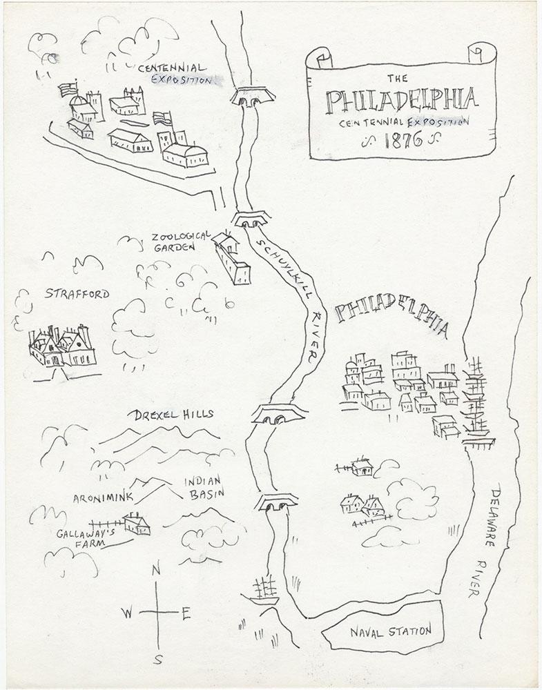 Later version of map of Philadelphia, for The Philadelphia Adventure