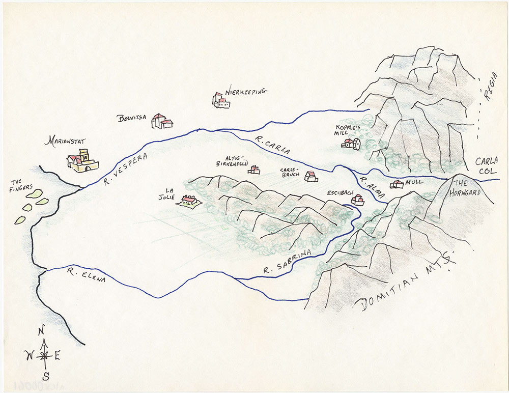 Latest version of close-up map of Westmark, for The Kestral