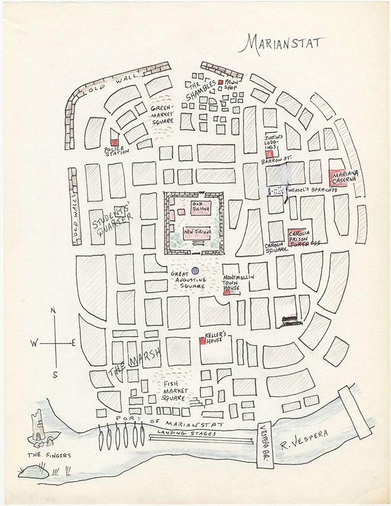 Third version of map of Marianstat, for The Beggar Queen