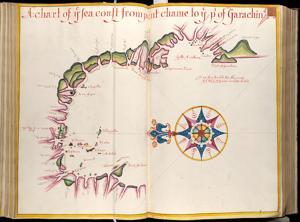 A chart of ye sea coast from point chame to ye pt of Garachin
