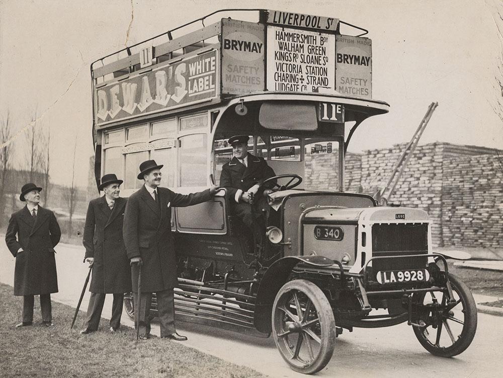Pre-War London Bus Lent to Vancouver