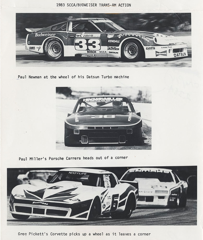1983 SCAA/Budweiser Trans-Am Action