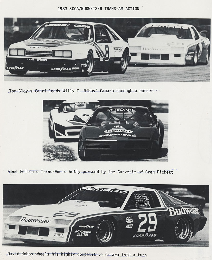 1983 SCAA/Budweiser Trans-Am Action 2