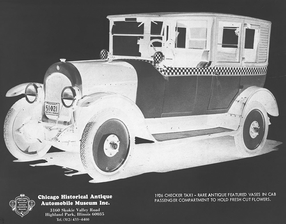 1926 Checker Taxi Digital Collections Free Library