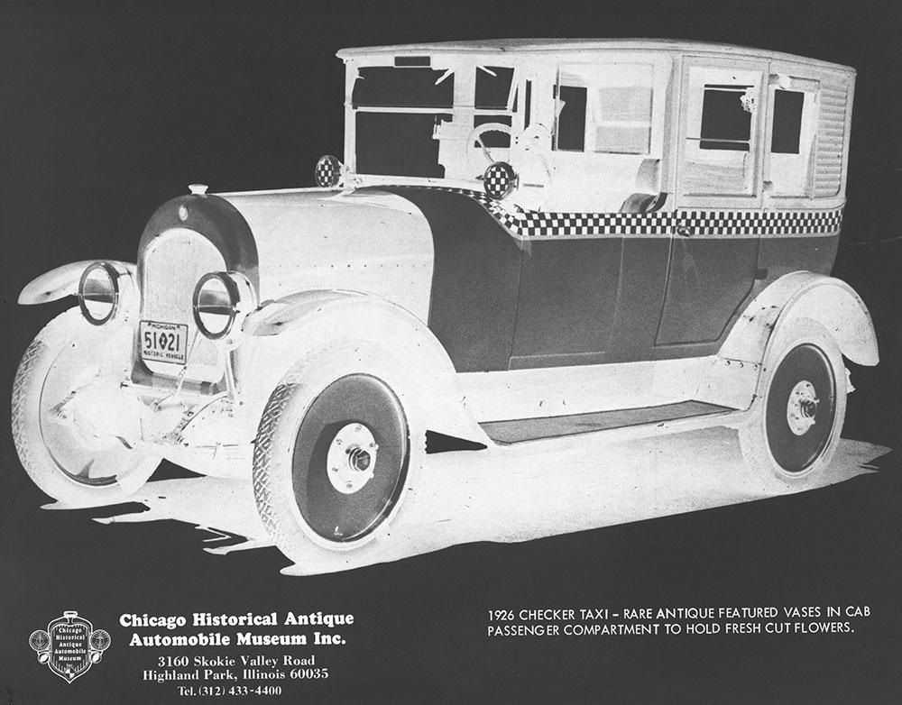 1926 Checker Taxi
