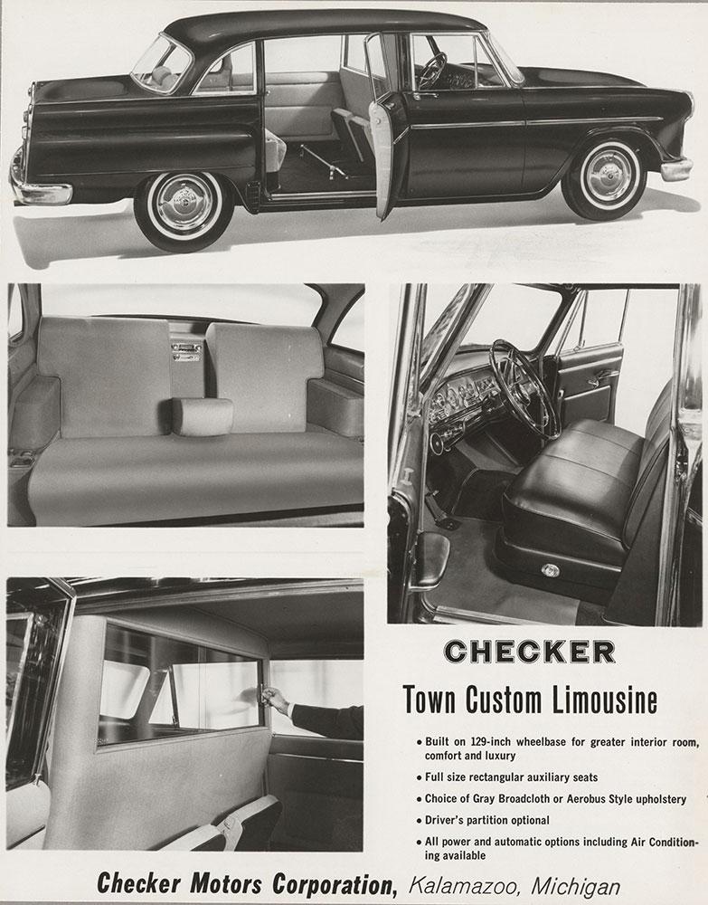 Checker - 1965 Town Custom Limousine, exterior and interior views