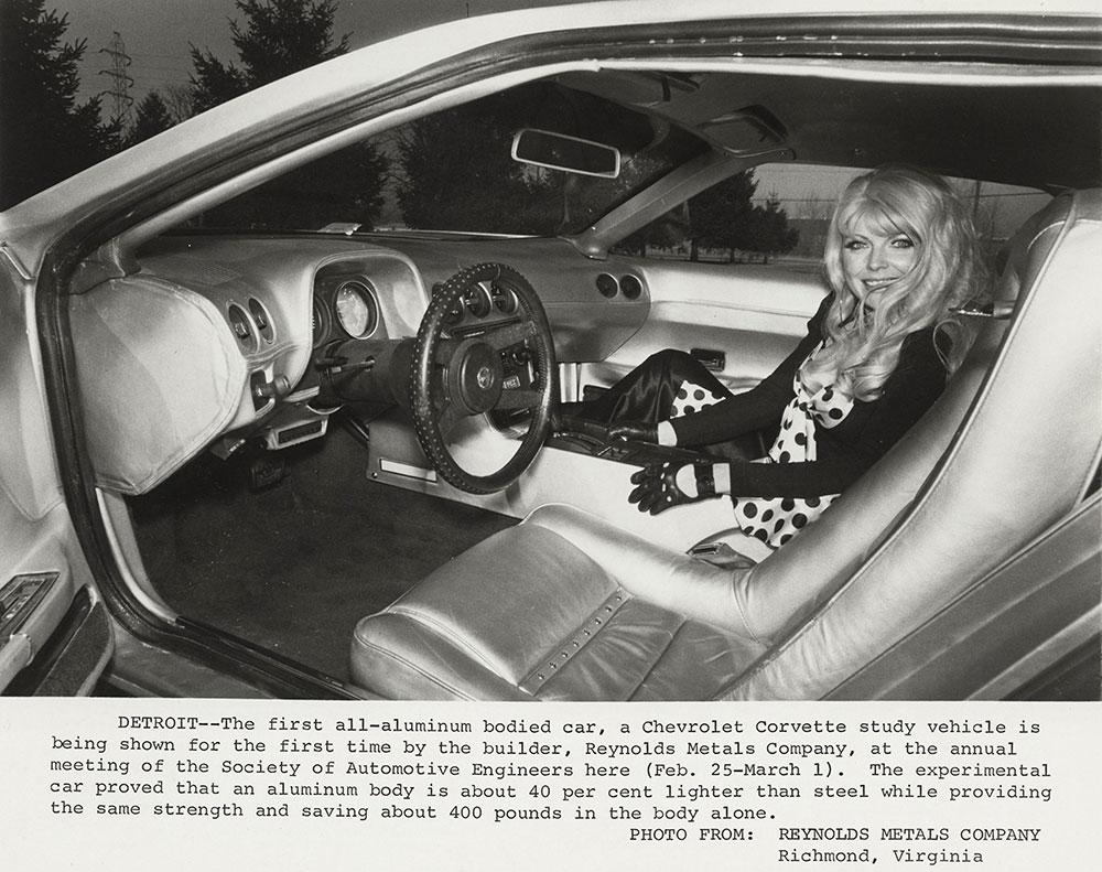 Chevrolet - 1974 - Corvette, all-aluminum body by Reynolds Metal Company: interior