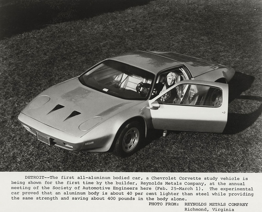 Chevrolet - 1974 - Corvette, all-aluminum body by Reynolds Metal Company