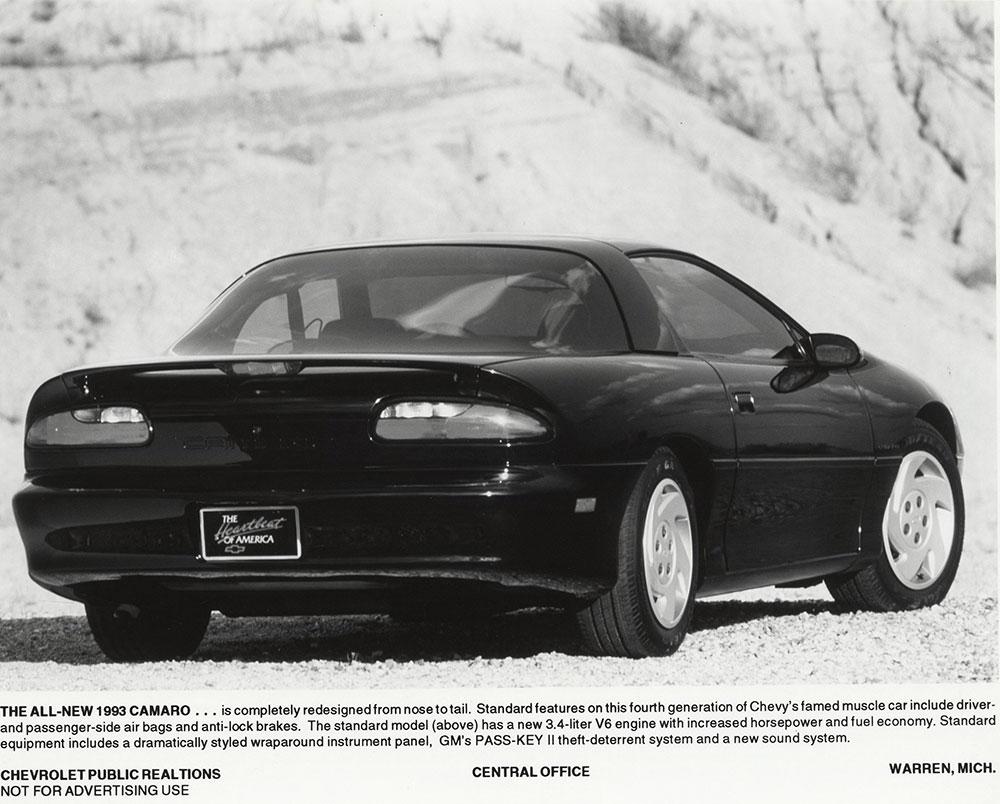 Chevrolet - 1993 - Camaro: rear view - Digital Collections