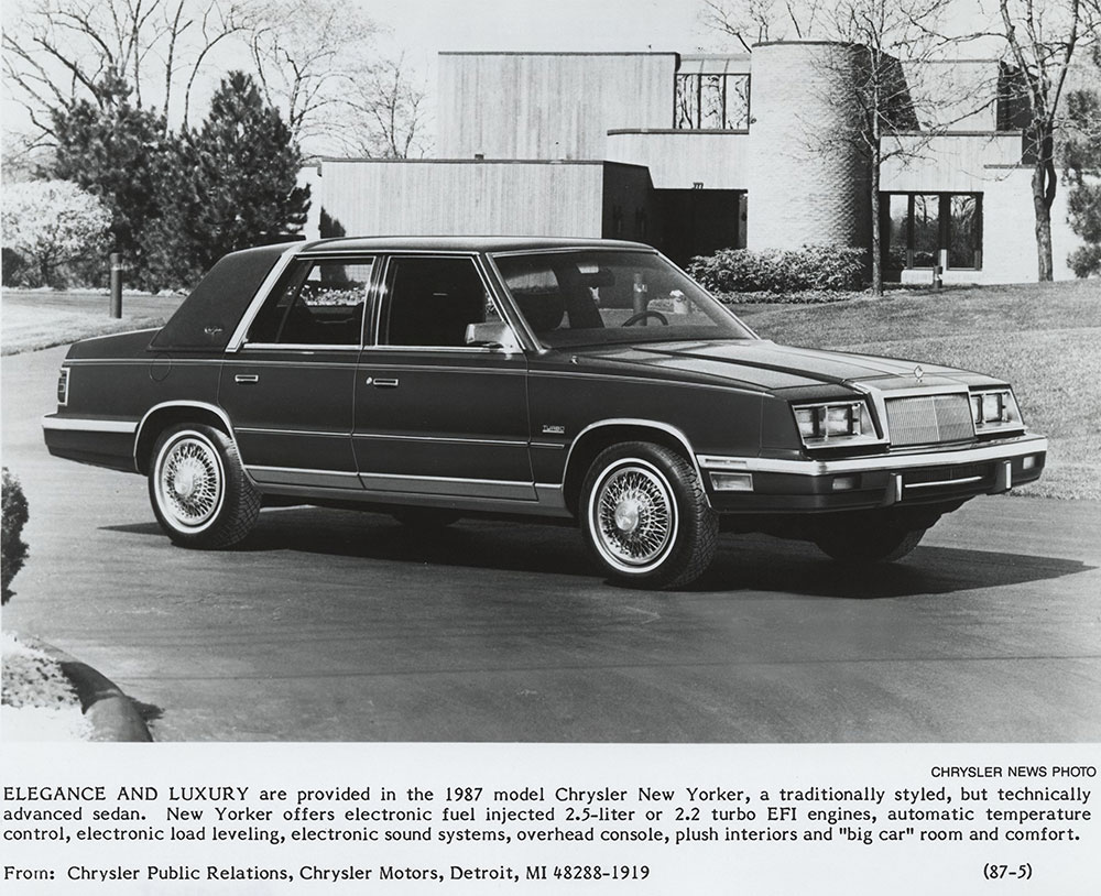 1987 chrysler new yorker digital collections free library 1987 chrysler new yorker digital
