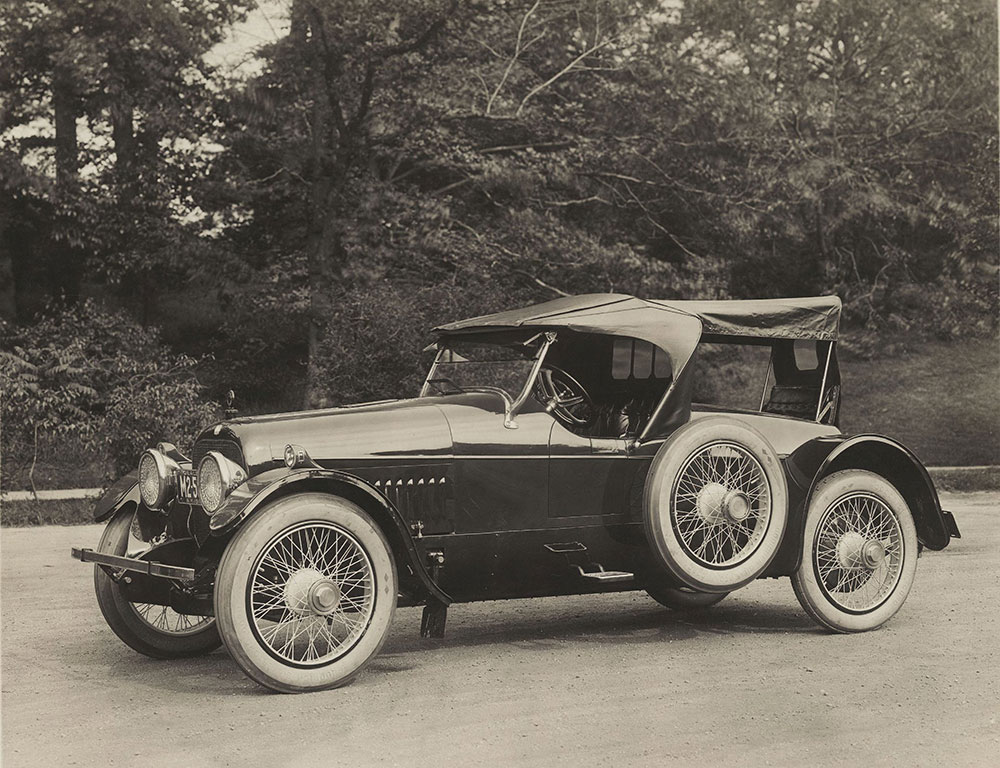 The Cunningham Car, Style No. 40A, Model V-1, 1916. Roadster with two auxiliary seats