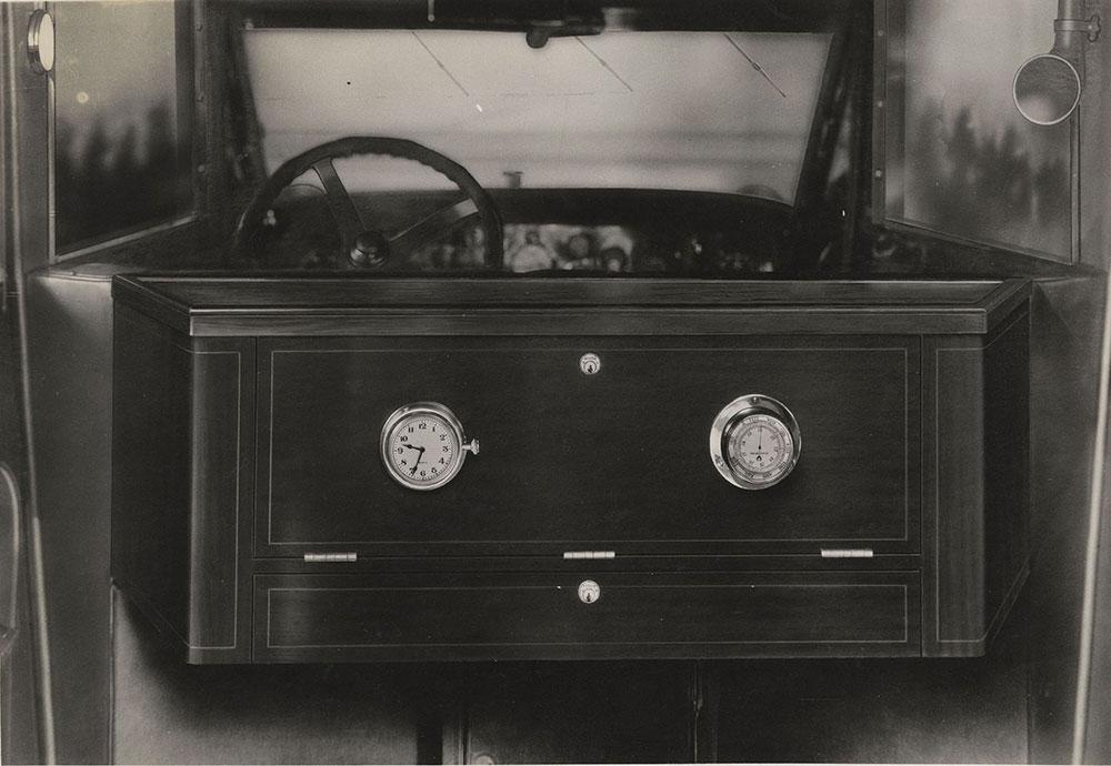 Cunningham, 1870-A, Major Lee Special, Radio Cabinet, panel closed;  Below Beverage Locker. V-6, 1925.