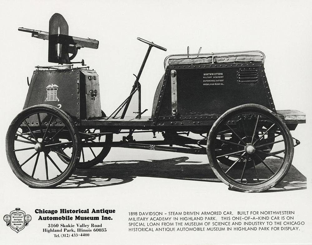 1898 Davidson- Steam Driven Armored Car.