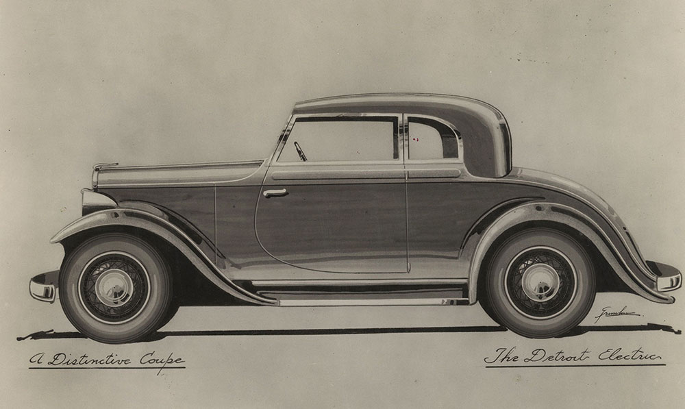 Detriot Electric, Model 100, Series 32B Coupe, 1931.