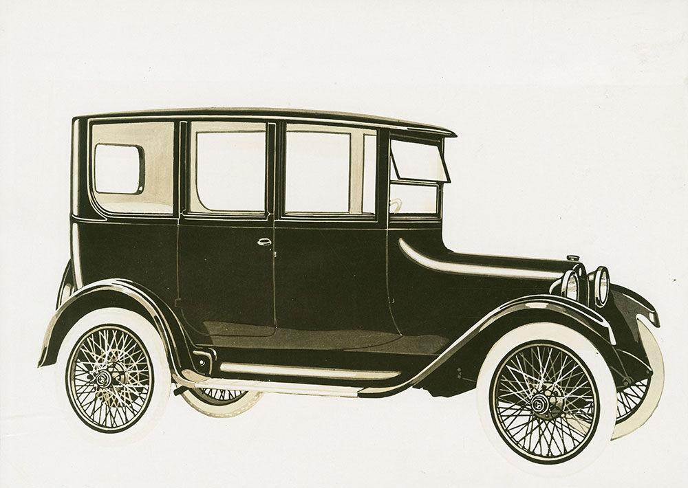 Dodge Brothers 2-door center door 5 person sedan - 1917