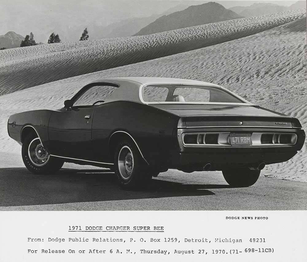 Dodge Charger Super Bee 1971 Digital Collections Free
