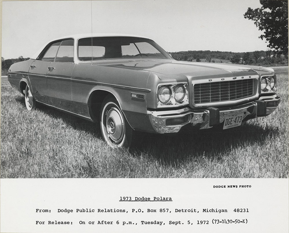 Dodge Polara- 1973 - Digital Collections - Free Library