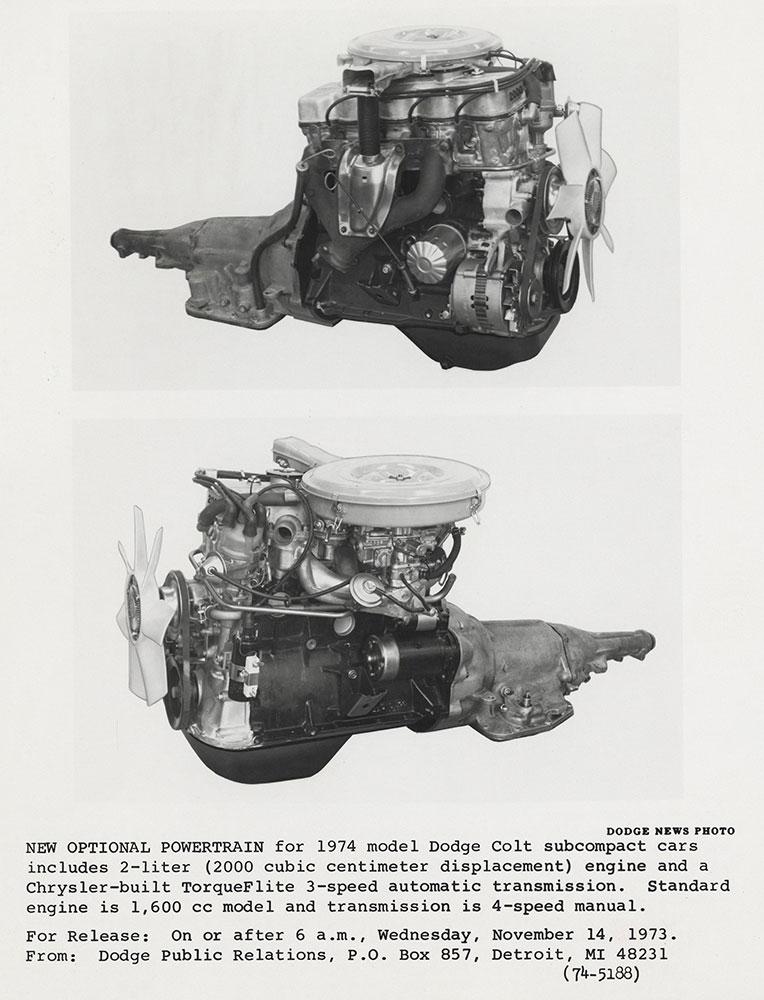 Dodge Colt powertrain - 1974 - Digital Collections - Free