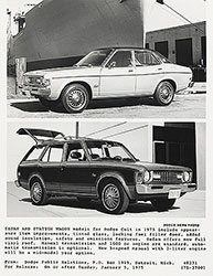 Top: Dodge Colt (4 door)- 1975. Bottom: Dodge Colt (wagon)- 1975.